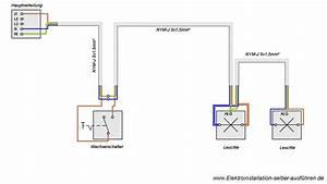 Wie Funktioniert Ein Bewegungsmelder : schaltplan einer ausschaltung von zwei lampen elektrische schaltungen f r die hausinstallation ~ Frokenaadalensverden.com Haus und Dekorationen