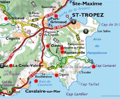 Carte Tropez by Carte De La Presqu 238 Le De Tropez