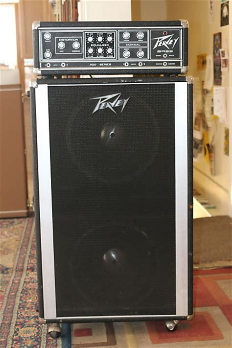 peavey bass cabinet peavey 400 series w 2x15 cabinet black silver reverb