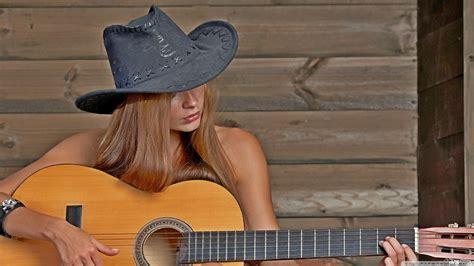 girl playing guitar  hd desktop wallpaper   ultra