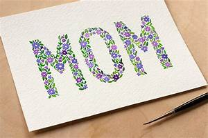 DIY: Watercolor Mother's Day Card + Free Printable