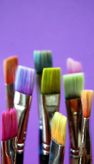 colorful paint brushes necessary tools color it inspired in 2019 happy colors paint