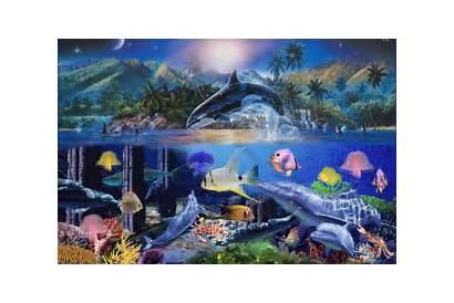 Fantasy Seaworld Fish Animated Sea Ocean Dolphin