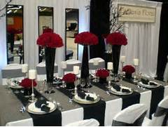 Table Decorations Black And White Theme Themes A Black And White Wedding