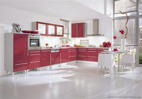 Kuche Rot by Pictures Of Kitchens Modern Kitchen Cabinets Page 2