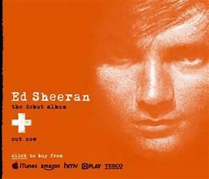 Music CD Cover 'Ed Sheeran' The debut Album ...