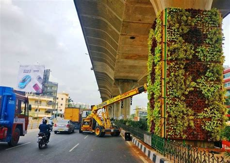 Vertical Garden In Bangalore by Bangalore Gets Another Vertical Garden To Combat Pollution