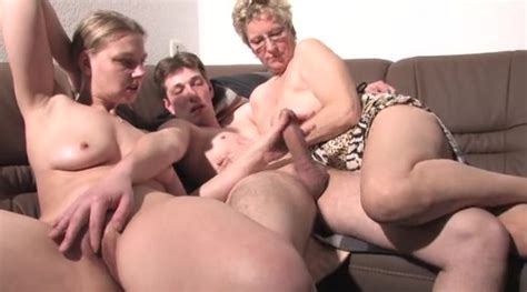 Mature Mommy And College Girl Share His Hard Cock Group