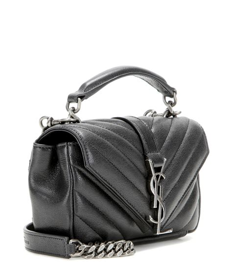 saint laurent baby college quilted leather shoulder bag  black lyst