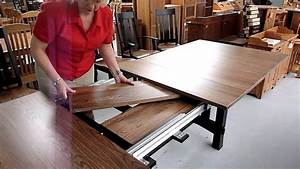 How, Amish, Dining, Table, Leaf, Storage, Works