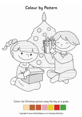 activity village christmas tree colouring challenge 2