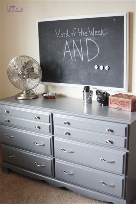painting  dresser gray dinosaur boy bedroom beingbrook