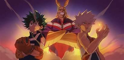Deku Bakugou Academia Might Hero Katsuki Izuku
