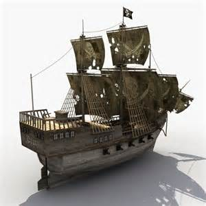 Old Pirate Ship Models