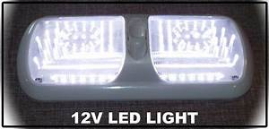 New 12volt Double Pancake Led Light W  Switch Clear Lens