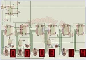 Digital Clock Using 4026 Ic