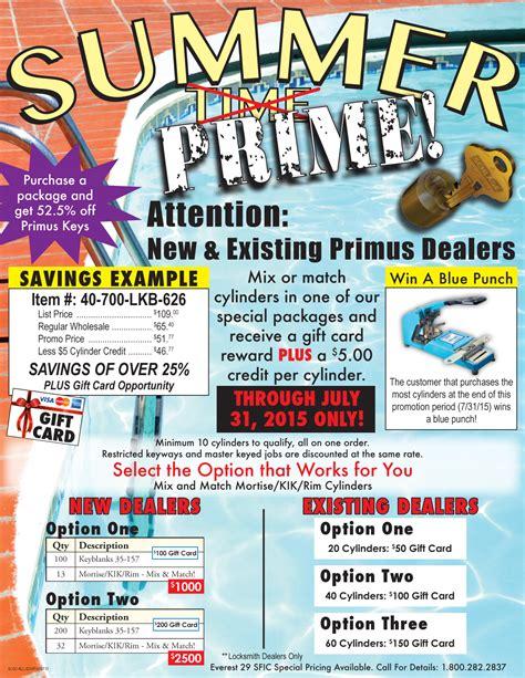 summer prime promo flyer