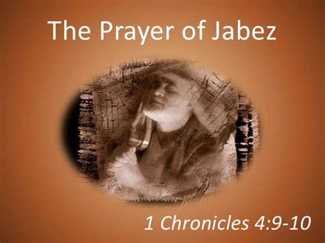 100829 The Prayer Of Jabez 1 Chronicles 4 9 10