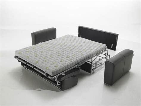 canapé convertible cuir haut de gamme à ouverture express