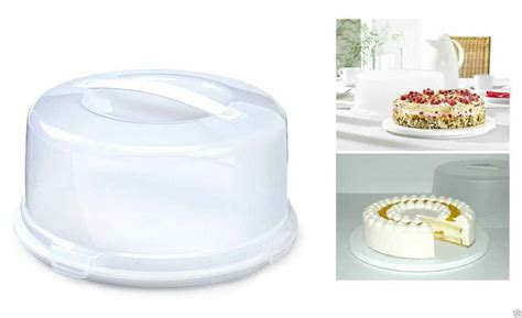 plastic cake box  cake storage carrier container