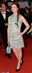 floral embroidered wedding dress harry potter bonnie wright fails to sparkle as she completes a hat trick of fashion