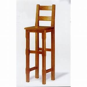 Tabouret De Bar En Bois Avec Dossier : tabouret de bar campagnard n 4 meubles de normandie ~ Melissatoandfro.com Idées de Décoration