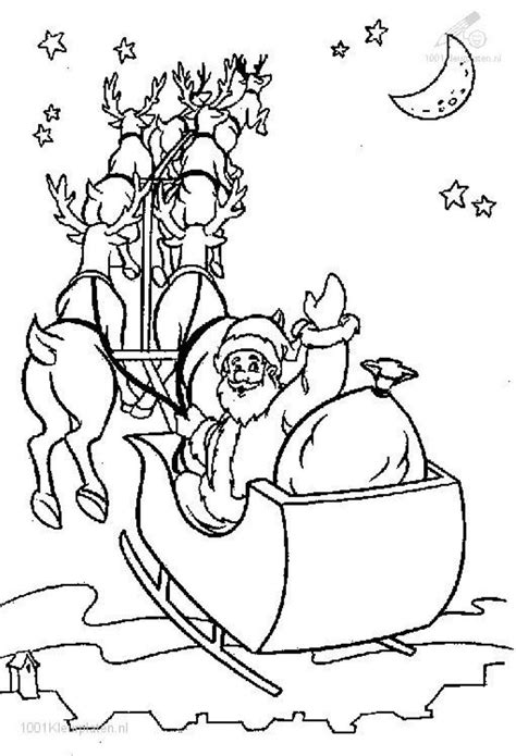 coloring pages  santa   sleigh  getcoloringscom  printable colorings pages