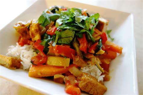 tofu stir fry satay tofu vegetable stir fry live blissful