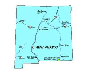 New Mexico Major Cities Map