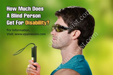 legally blind benefits how much does a blind person get for disability