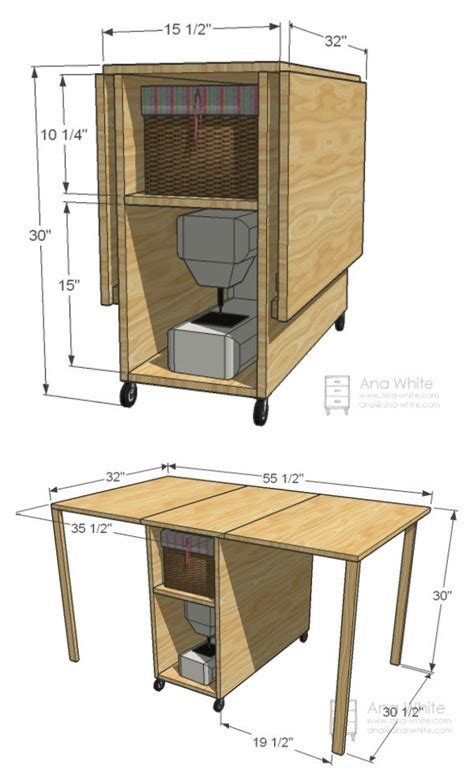 Diy Sewing Cabinet Plans diy foldable craft table