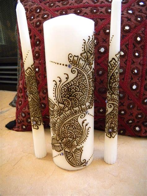 unity candle set  henna henna candles  swarowski