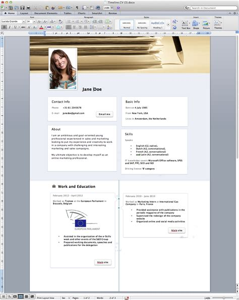 How To Make A Looking Resume On Word by Timeline Resume Template Word Free 187 Rogier Trimpe