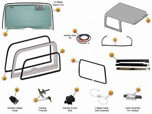 Hardtop Liftgate Glass  Seals  U0026 Replacement Parts For Wrangler Yj  U0026 Jeep Cj U0026 39 S