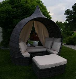 Loungemöbel Mit Stauraum : poly rattan garten loungeoase zwiebel liegeinsel der ~ Michelbontemps.com Haus und Dekorationen