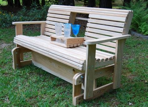 build  wooden glider swing woodworking projects