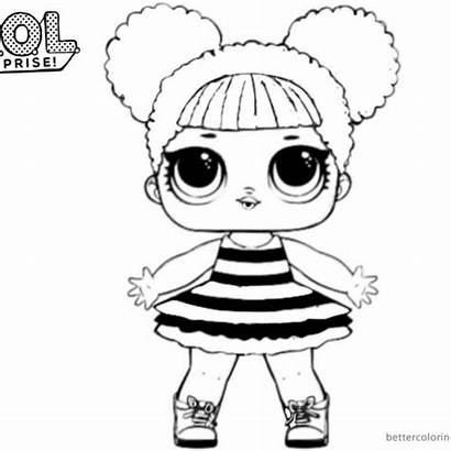 Lol Coloring Pages Bee Queen Surprise Doll