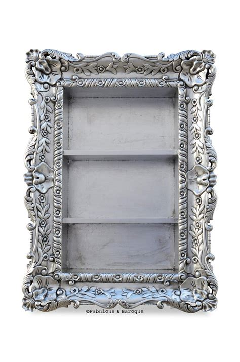 Wall Etagere by Felicia Wall Mounted Etagere Silver Leaf Fabulous And