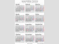 Ingyenes naptár nyomtatás 2019 Szabad fájlok PDF nyomtatás