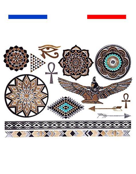 tatouages  egypte mandala fleches bracelets