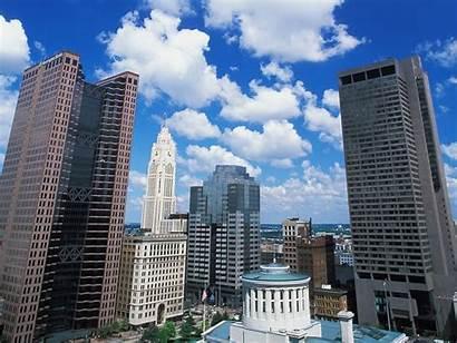 Columbus Ohio Skyline Buildings Akron Oh Cousino