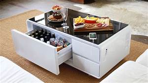 Table Basse High Tech : product of the week a hi tech coffee table with built in refrigerator ~ Melissatoandfro.com Idées de Décoration