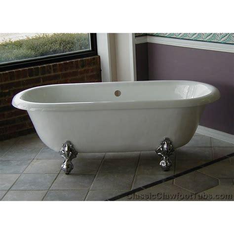 clawfoot tub 66 quot acrylic double ended clawfoot tub classic clawfoot tub