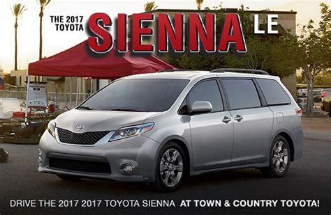 toyota sienna features performance town  country