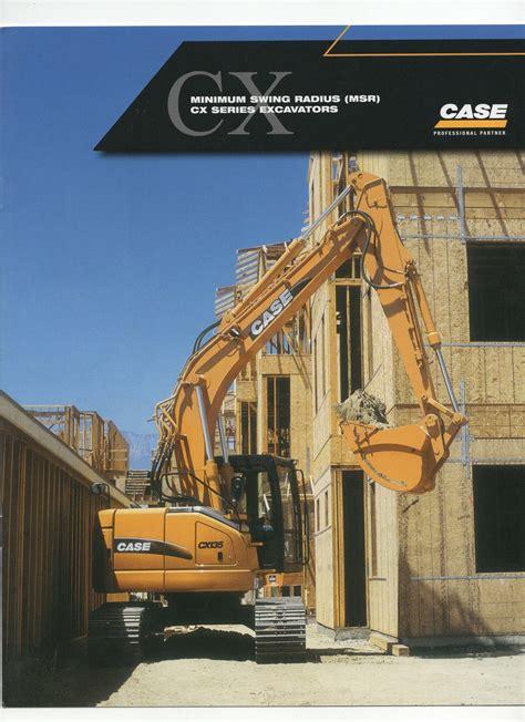 case cx series excavator sales brochure sps parts