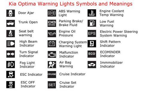 kia sportage malfunction indicator light understanding kia optima warning lights