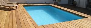 Piscine Avec Terrasse Bois : terrasse bois piscine ma terrasse ~ Nature-et-papiers.com Idées de Décoration