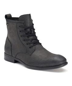 Vintage Black Leather Combat Boots Military Soldier