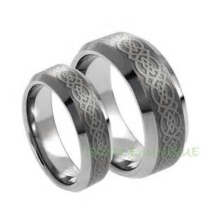 his and wedding ring sets ring matching wedding bands celtic wedding rings wedding ring sets tungsten wedding band
