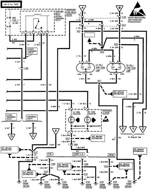 88 Chevy Truck Wiring Diagram by 88 Chevy Truck Turn Signal Wiring Diagram Wiring